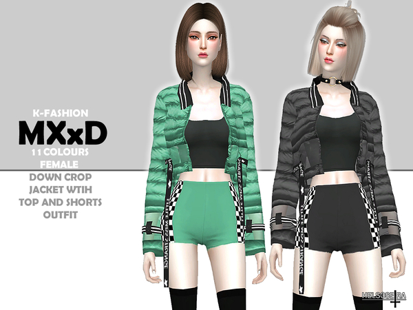 MXXD - Down Crop Jacket - Outfit by Helsoseira