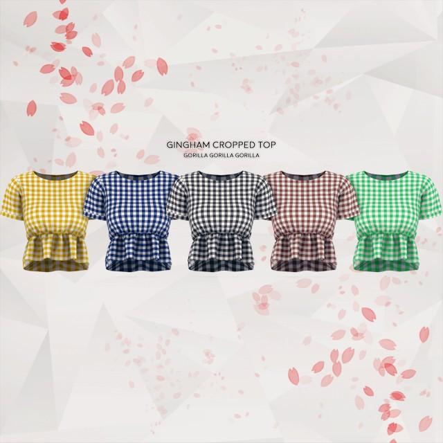 Gingham Cropped Top by gorilla