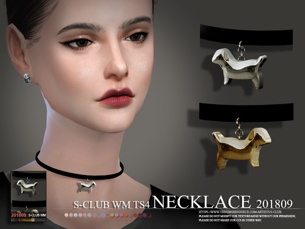 S-Club ts4 WM Necklace F 201809