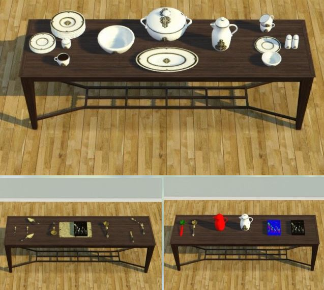 ShinoKCR with Loverat textures 2t3 - Art Deco Dinnerware by Deniisu-sims