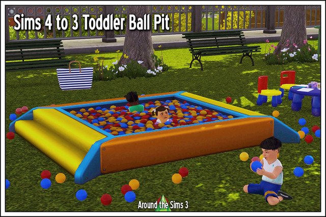 Бассейн с мячиками Sims 4 to 3 Toddler Ball Pit by Sandy
