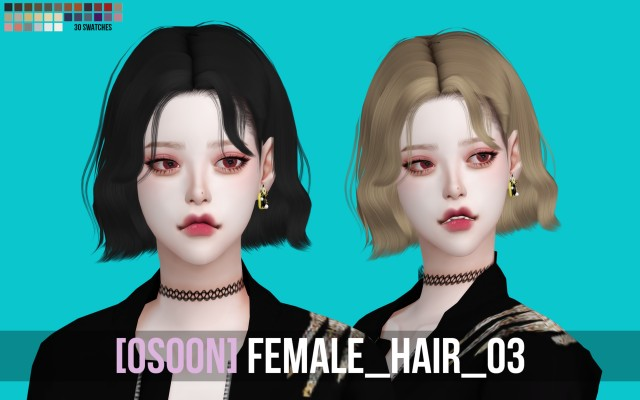 Female Hair 03 by Osoon
