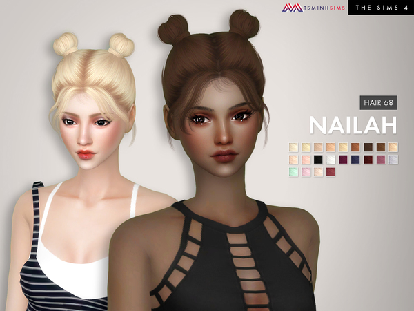 Nailah ( Hair 68 ) by TsminhSims