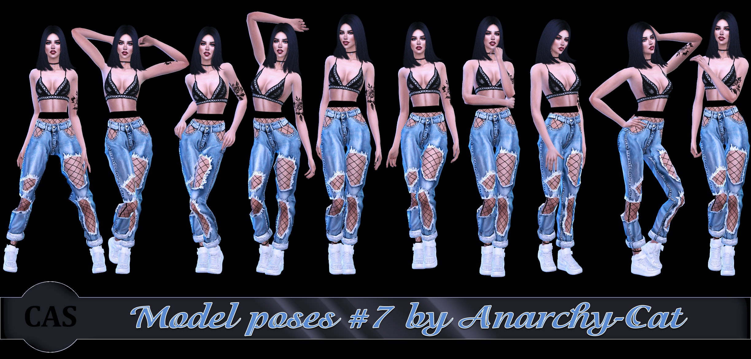 Model poses #7 by Anarchy-Cat