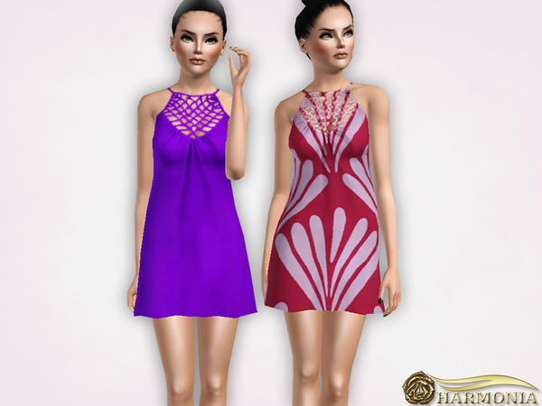 Swing Dress with Cage Neck by Harmonia