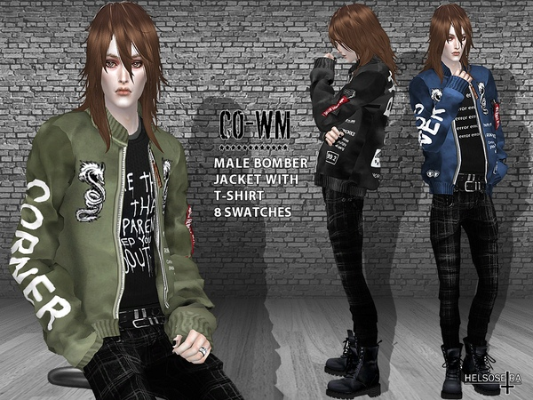 CO-WM - Male Bomber Jacket with T-shirt by Helsoseira