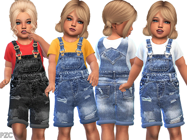 Denim Ripped Overall For Toddler by Pinkzombiecupcakes