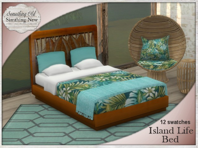 Island Life Bed Recolors by SimthingNew