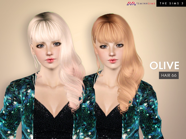 Olive ( Hair 66 ) by TsminhSims