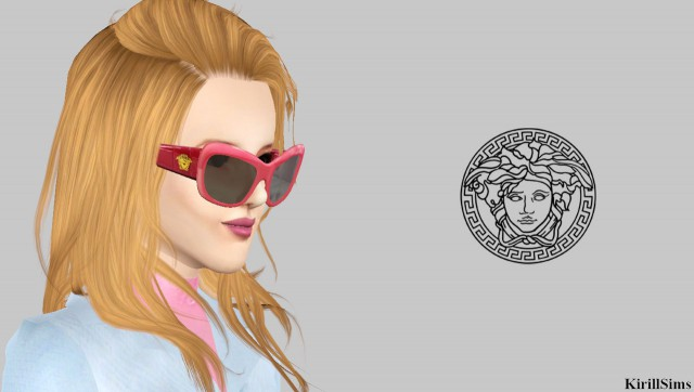 Gianni Versace Pink Croc Leather Sunglasses by KirillSims