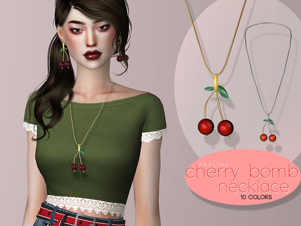 Cherry Bomb Necklace by Pralinesims