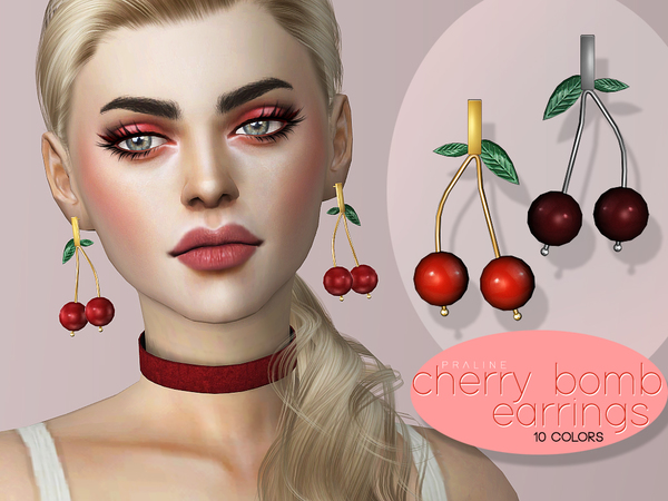 Cherry Bomb Earrings by Pralinesims