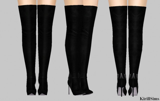Sergio Rossi Suede Knee High Boots by KirillSims
