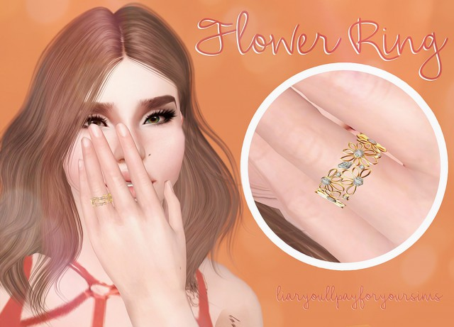 Flower Ring by liaryoullpayforyoursims