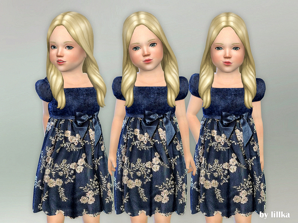 Toddler Velvet Dress by lillka