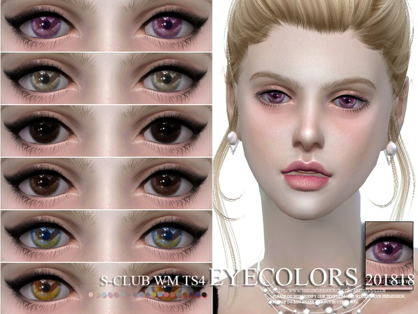 S-Club WM ts4 Eyecolors 201818