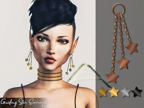 Genius Guiding Star Earrings by Genius666