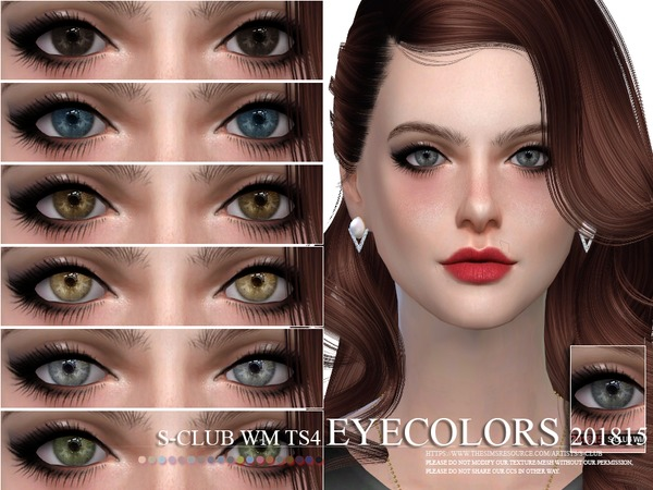 S-Club WM ts4 Eyecolors 201815