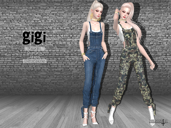 GIGI - Overalls Jeans by Helsoseira