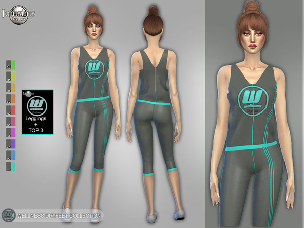 wellness Dry feet leggings and top 3 by jomsims