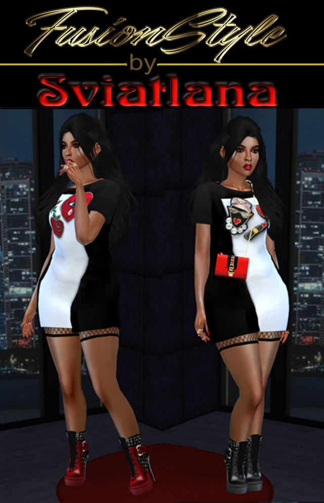 Short dress - FusionStyle by Sviatlana