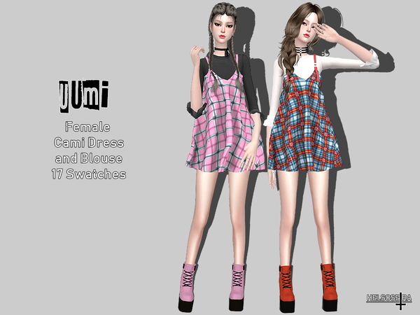 UUMI - Cami Dress w/ Blouse by Helsoseira