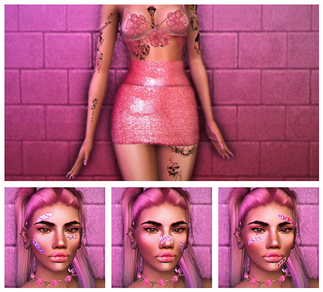 Dizzie Skirt Recolor & Hello Kitty Bandaids by DizzieSims