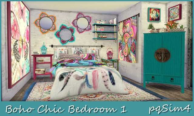 Boho Chic Bedroom 1 by pqSim4