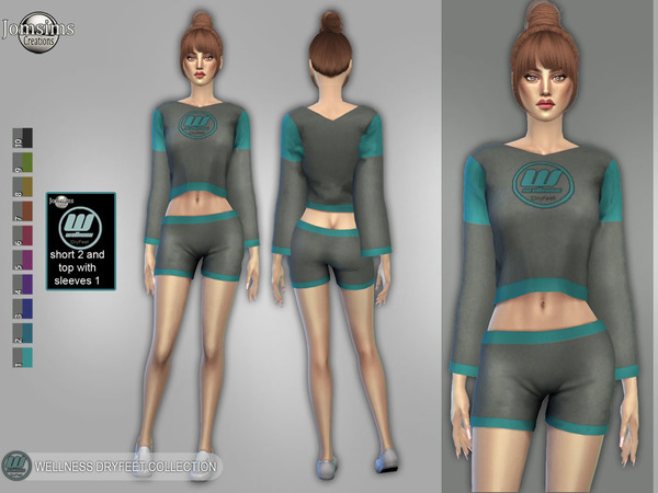 wellness Dry feet short 2 and top with sleeves 1 by jomsims