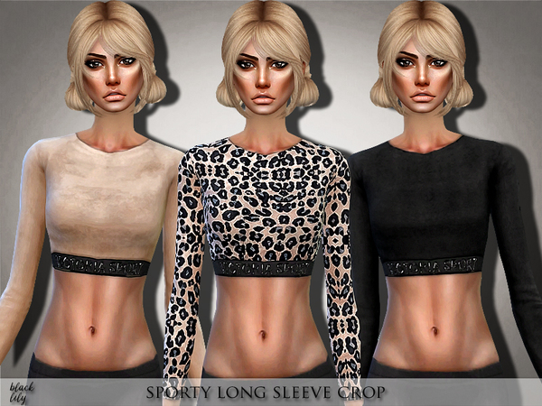 Sporty Long Sleeve Crop by Black Lily