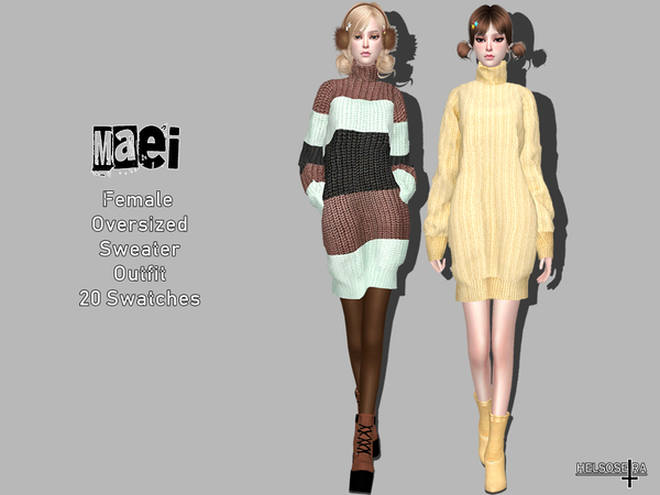 MAEI - Oversized Sweater - Outfit by Helsoseira