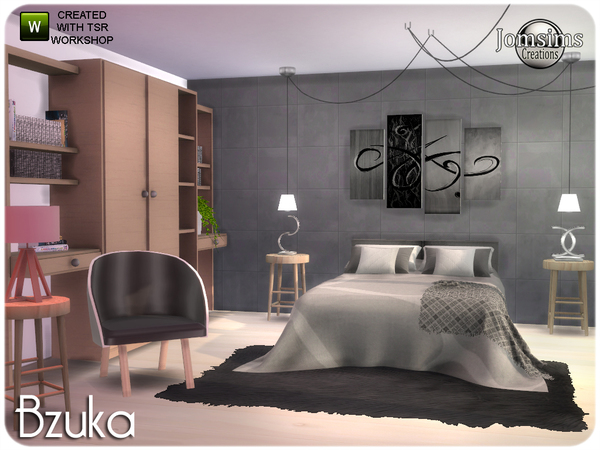 Bzuka bedroom by jomsims