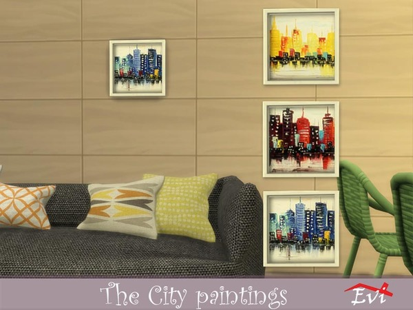 The City paintings by evi