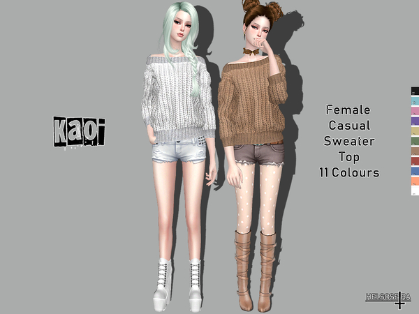 KAOI - Casual Sweater Top  by Helsoseira
