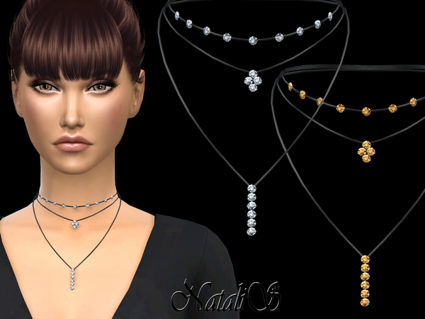NataliS_Layered necklace with crystals