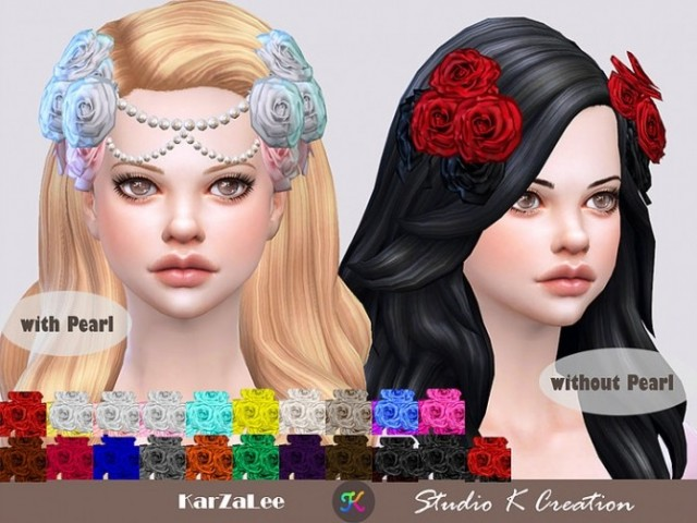 Roses headpiece by Karzalee