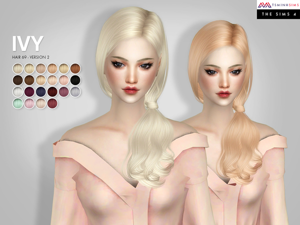 IVY ( Hair 69 - Version 2) by TsminhSims