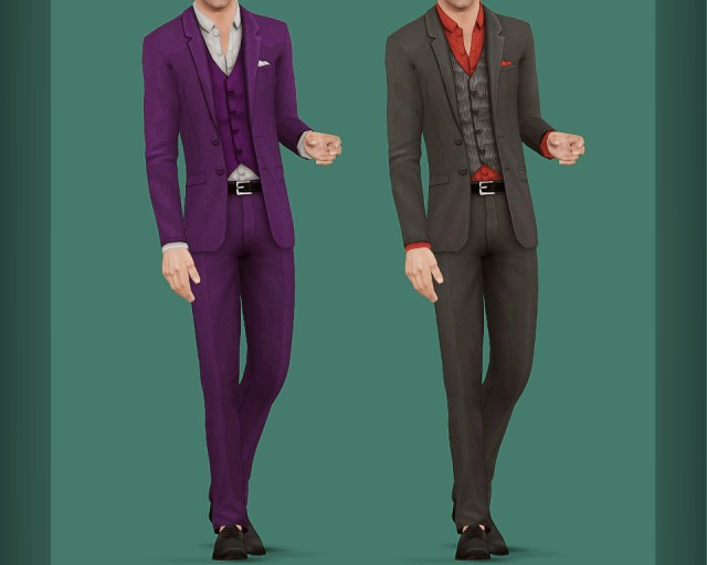 Sims 4: Get Together  Fitted Suit by simtanico