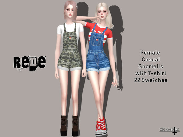 RENE - Shortalls with T-shirt by Helsoseira