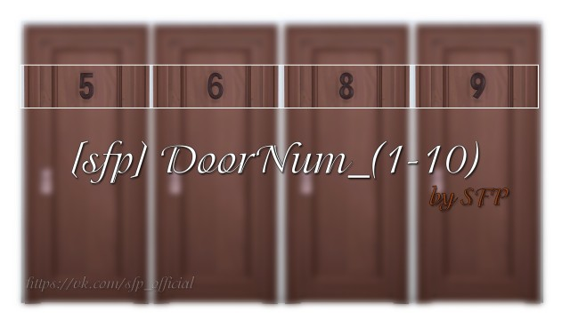 [sfp] DoorNum_(1-10) by YaSi
