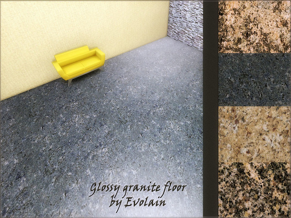 Glossy granite floor by Evolain