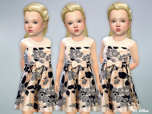 Floral Glitter Toddler Dress by lillka