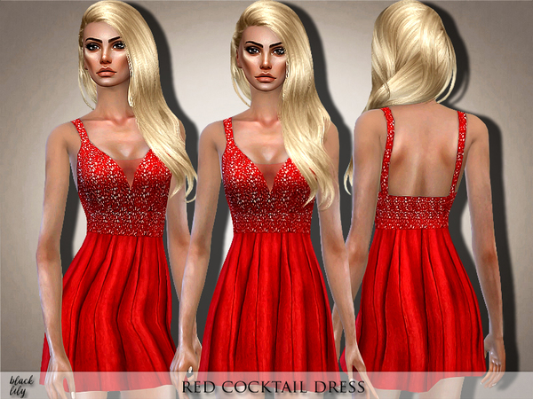 Red Cocktail Dress by Black Lily