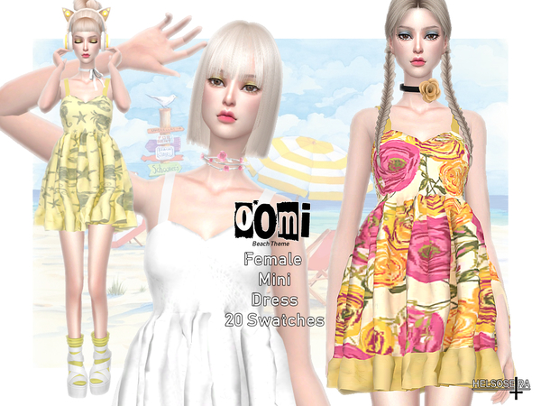 OOMI - Mini Dress by Helsoseira