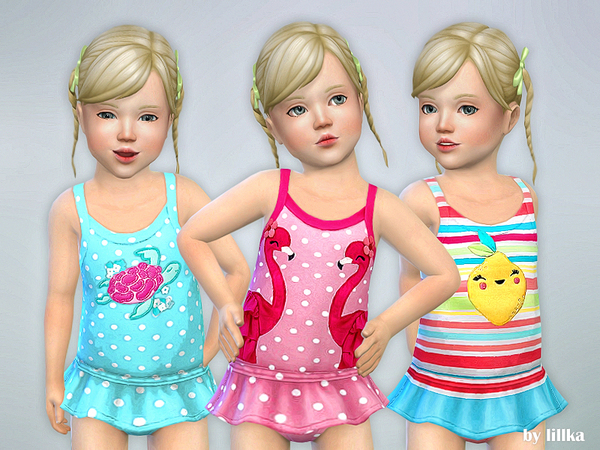 Toddler Swimsuit P04 by lillka