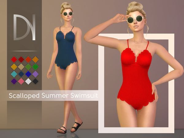 Scalloped Summer Swimsuit by DarkNighTt