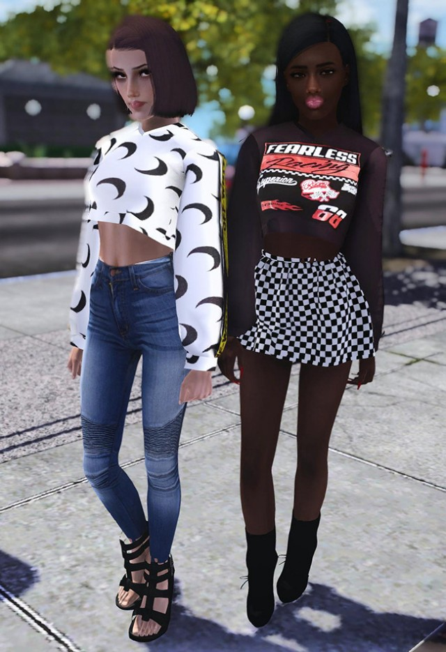 Restless X Trust Me, Love Me, Respect Crop Top Sweater by riotsimming