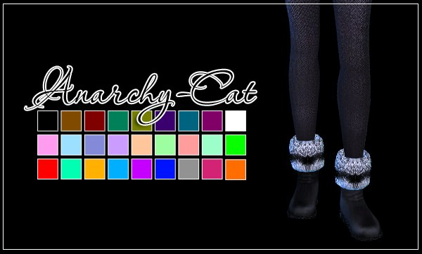 NataliS Flat low boots with fur by Anarchy-Cat