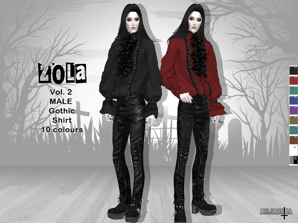 ZOLA - Vol.2 - Gothic Male Shirt by Helsoseira