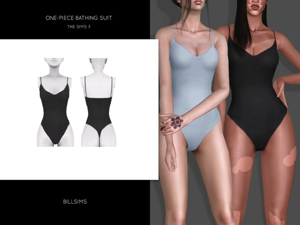 One-Piece Bathing Suit by Bill Sims